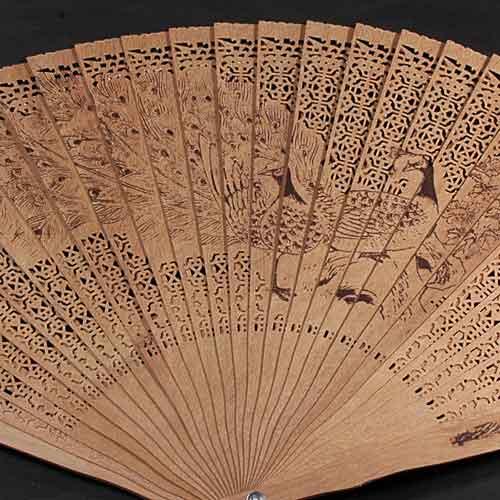 白檀扇子(孔雀)iw101205a21